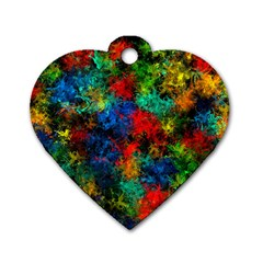 Squiggly Abstract A Dog Tag Heart (one Side)