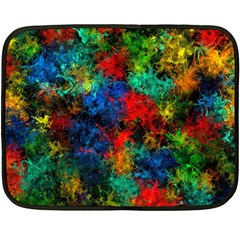 Squiggly Abstract A Fleece Blanket (mini)