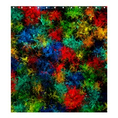 Squiggly Abstract A Shower Curtain 66  X 72  (large)