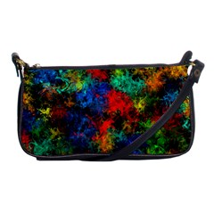 Squiggly Abstract A Shoulder Clutch Bags