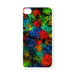 Squiggly Abstract A Apple Iphone 4 Case (white)