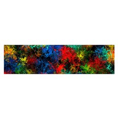 Squiggly Abstract A Satin Scarf (oblong)
