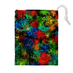 Squiggly Abstract A Drawstring Pouches (extra Large)