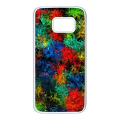 Squiggly Abstract A Samsung Galaxy S7 White Seamless Case