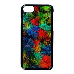 Squiggly Abstract A Apple Iphone 7 Seamless Case (black)