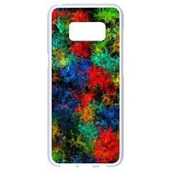 Squiggly Abstract A Samsung Galaxy S8 White Seamless Case