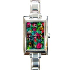 Squiggly Abstract B Rectangle Italian Charm Watch