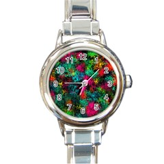 Squiggly Abstract B Round Italian Charm Watch
