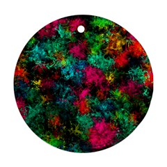 Squiggly Abstract B Ornament (round)