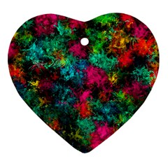 Squiggly Abstract B Ornament (heart)