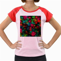 Squiggly Abstract B Women s Cap Sleeve T Shirt