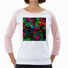 Squiggly Abstract B Girly Raglans
