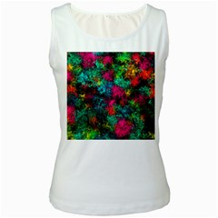 Squiggly Abstract B Women s White Tank Top