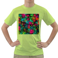 Squiggly Abstract B Green T Shirt