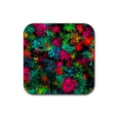 Squiggly Abstract B Rubber Coaster (square)