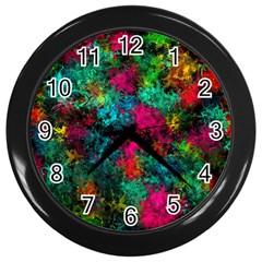 Squiggly Abstract B Wall Clocks (black)