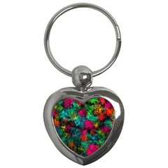 Squiggly Abstract B Key Chains (heart)