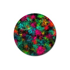 Squiggly Abstract B Magnet 3  (round)