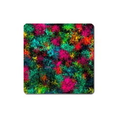Squiggly Abstract B Square Magnet