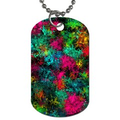 Squiggly Abstract B Dog Tag (one Side)