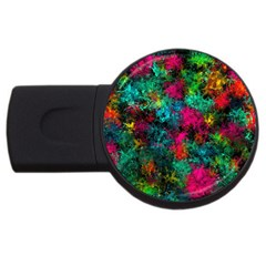 Squiggly Abstract B Usb Flash Drive Round (2 Gb)