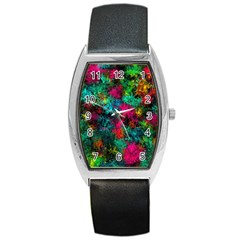 Squiggly Abstract B Barrel Style Metal Watch