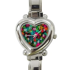 Squiggly Abstract B Heart Italian Charm Watch