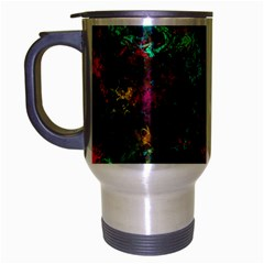 Squiggly Abstract B Travel Mug (silver Gray)