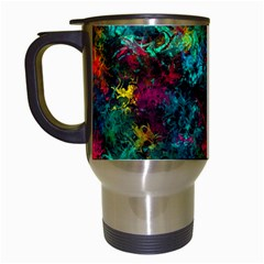 Squiggly Abstract B Travel Mugs (white)