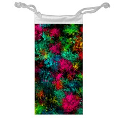Squiggly Abstract B Jewelry Bag