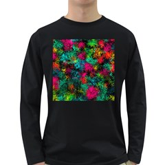 Squiggly Abstract B Long Sleeve Dark T Shirts