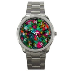 Squiggly Abstract B Sport Metal Watch