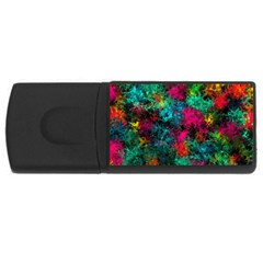 Squiggly Abstract B Rectangular Usb Flash Drive