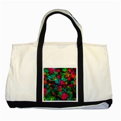 Squiggly Abstract B Two Tone Tote Bag