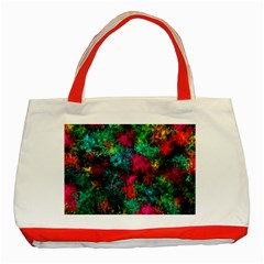 Squiggly Abstract B Classic Tote Bag (red)