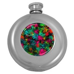 Squiggly Abstract B Round Hip Flask (5 Oz)