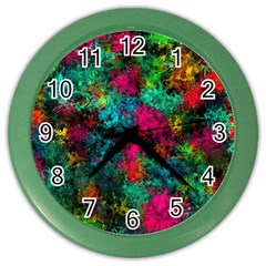 Squiggly Abstract B Color Wall Clocks