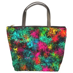 Squiggly Abstract B Bucket Bags
