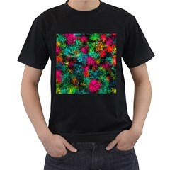 Squiggly Abstract B Men s T Shirt (black)