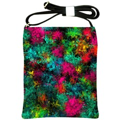 Squiggly Abstract B Shoulder Sling Bags