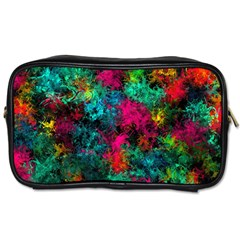 Squiggly Abstract B Toiletries Bags 2 Side