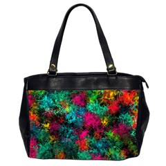 Squiggly Abstract B Office Handbags (2 Sides)