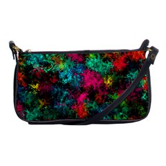 Squiggly Abstract B Shoulder Clutch Bags