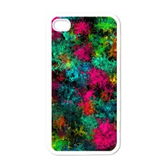 Squiggly Abstract B Apple Iphone 4 Case (white)