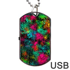 Squiggly Abstract B Dog Tag Usb Flash (two Sides)