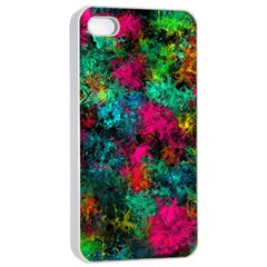 Squiggly Abstract B Apple Iphone 4/4s Seamless Case (white)