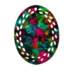 Squiggly Abstract B Oval Filigree Ornament (two Sides)