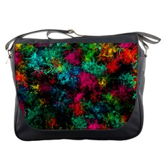 Squiggly Abstract B Messenger Bags