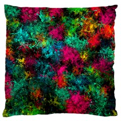 Squiggly Abstract B Large Cushion Case (one Side)