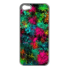 Squiggly Abstract B Apple Iphone 5 Case (silver)